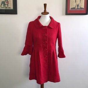 Cherry red lightweight coat