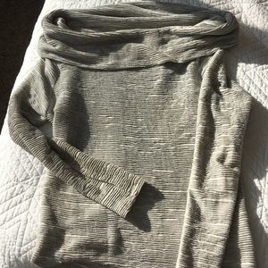Anthropologie Textured Gray Sweater