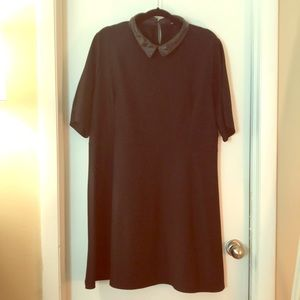 Simply Be Plus Size 22 Faux Leather Collar Dress