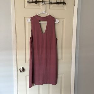 Dusty rose peekaboo dress WAYF