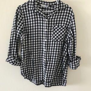 Old Navy • Black & White Flannel