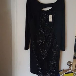 Nwt Lane Bryant black with sequins holiday dress