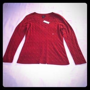 NWT New York & Company Red Long Sleeve Sweater