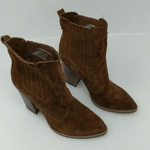 Dolce Vita Conway Brown Suede Heeled Ankle Boot