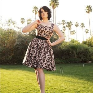 Pinup Couture Leopard Cocktail Dress