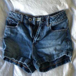 Bullhead High-Waisted Denim Shorts