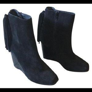 Jeffrey Campbell Suede Tassel Black Boots
