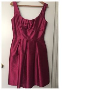 Magenta 50s or 60s style party cocktail dress