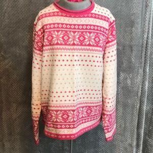 Croft & Barrow fair isle crew neck sweater
