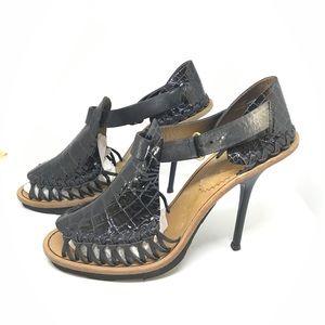 Giuseppe Zanotti x Thakoon black leather heels