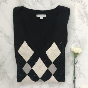 New York & Company NY&CO sweater argyle large L