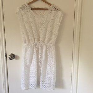 Madewell white eyelet dress