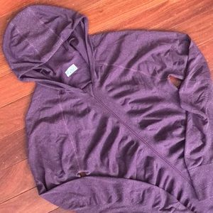 Purple/silver sparkly Athleta hoodie