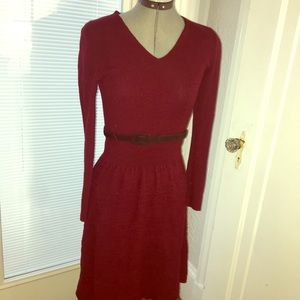 Wool fit & flare dress Ralph Lauren Size SMALL