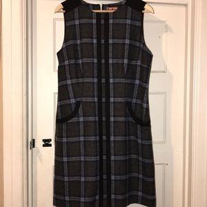 Tweed  pocket straight knee length dress