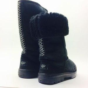 UGG Black Ribbon Tall Boots size 7