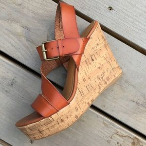 Brown Leather Sandals (hardly worn!)