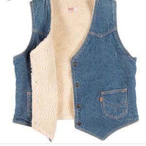 Vintage Levi's Sherpa Lined Vest