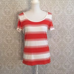 Merona Orange and White striped T-shirt