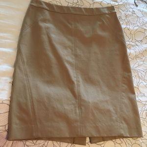 Ann Taylor 4 Petite Tan Skirt