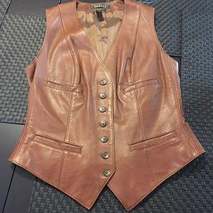 NWOT‼️ Ralph Lauren Leather Vest 🍁🍂