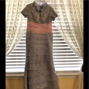 Other - Gray & pink gown. Length 56  inch F 61 inch Back