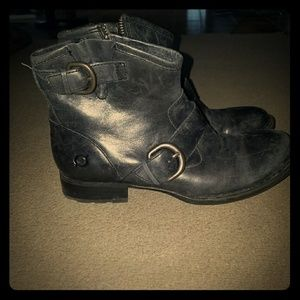 Moto style boots