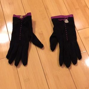 Moschino - Suede and Leather Gloves