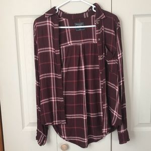 red Abercrombie flannel