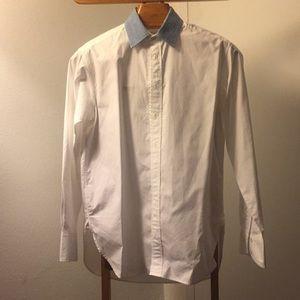 Rag & Bone oversized top with denim collar
