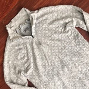 Light grey Athleta light weight 1/4 zip sweater