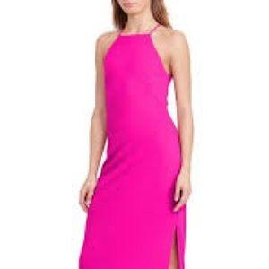 NWT Lauren Ralph Lauren pink, halter gown sz 10