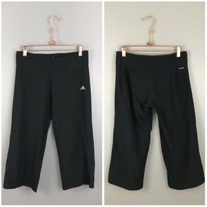 Adidas Black Women's Cropped Workout Pants