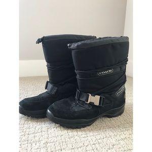 Black Coach Vibrant Sole Winter Boot