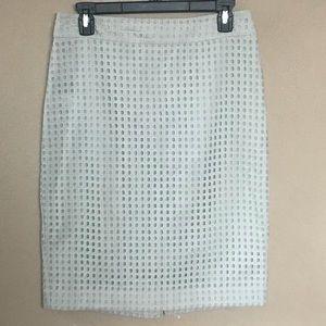 Ann Taylor mint tan pencil skirt size 4