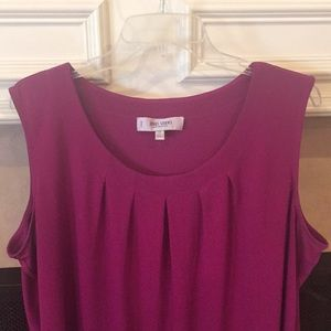 Jones Studio Purple Sleeveless Blouse