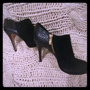 Vince Camuto black suede booties