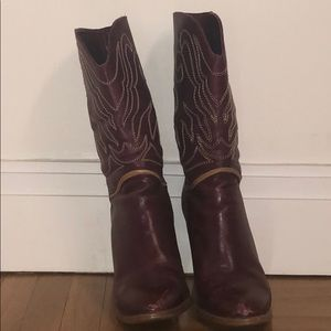 Vintage Red Maroon Boots