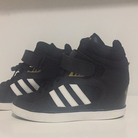 5 And High Sneakers Adidas Black Top Gold Wedge 8 Kc13ulFJT5