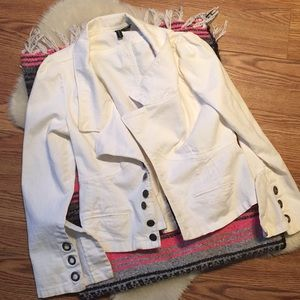Jackets & Blazers - White jean jacket