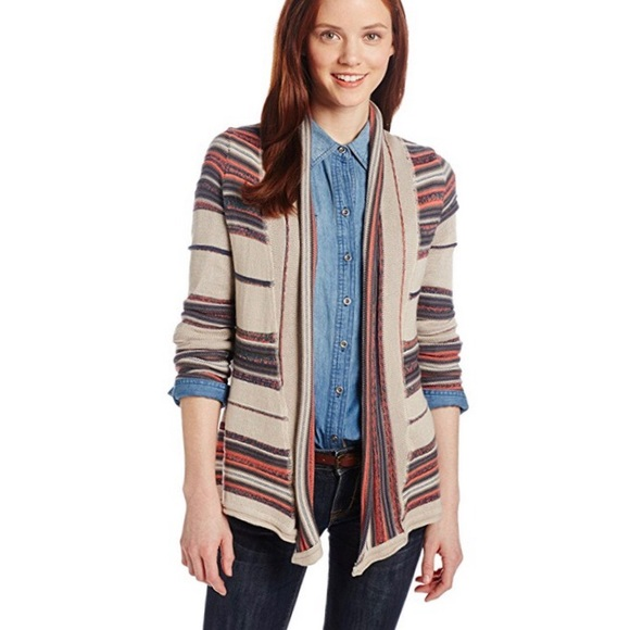 Billabong Juniors Loosen Up Stripe Cardigan Sweater