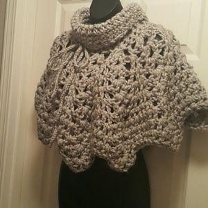 Sweaters - ****SOLD****Knit Poncho crochet Capelet shawl