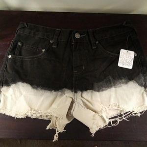 Free People Dip Dye Ombre Shorts