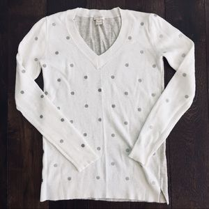J Crew Polka Dot Merino Wool Sweater