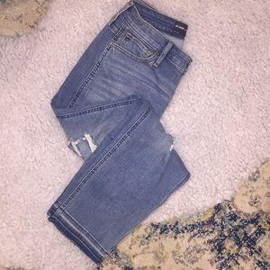 Raw Hem High Rise Boyfriend Jeans