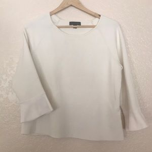 Winter White bell sleeve top