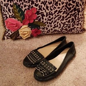 Black Aldo Leather Flats - Size 7
