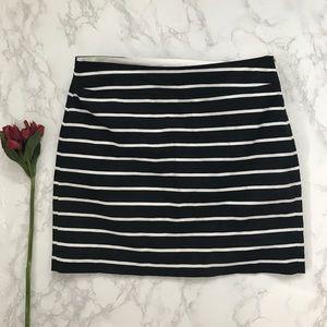 Banana Republic knot striped skirt black white 6
