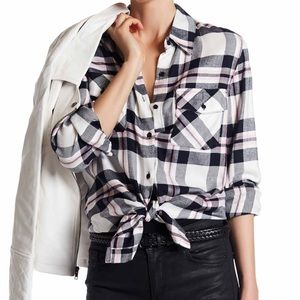 BB Dakota: Flannel Tunic Top