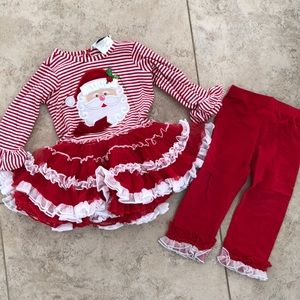 Rare Editions Christmas Outfit Size 18 Months